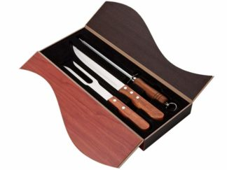 3 Piece Wood Handled Carving Set