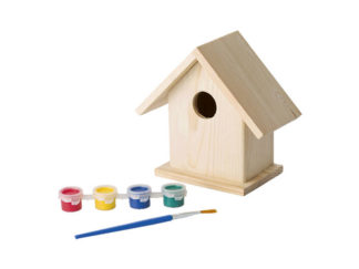Birdhouse With Painting Set